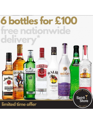 Any 6 bottles for £100 (with free delivery*)