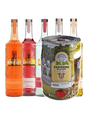 Bradfield Blonde Keg + J.J Whitley Gin Bundle