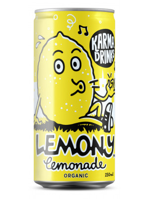 Karma Cola Organic Fairtrade Lemony Lemonade Cans 24 x 250ml