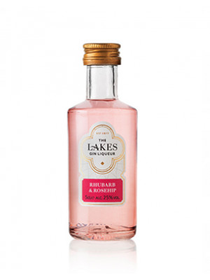 The Lakes Rhubarb & Rosehip Gin Liqueur Miniature 5cl
