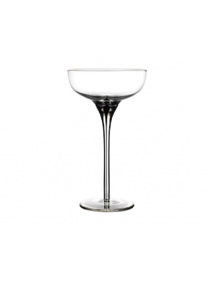 Black Murano Champagne Coupe 6.5 oz 18.5cl