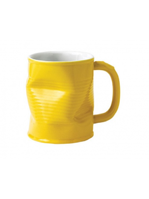 Squashed Tin Can Mug Yellow (large) 32cl 11/25oz