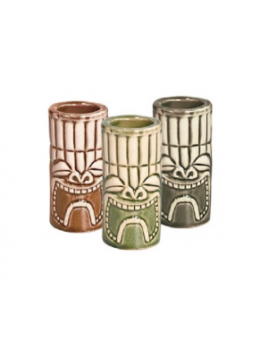 Tiki Shot Sets (Khaki/Green/Brown) (set 6pcs) 4cl 1.5oz