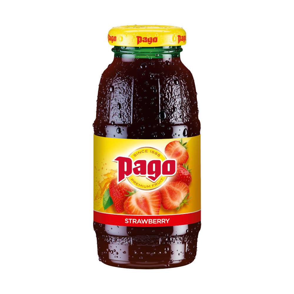 Pago Strawberry Juice 12x200ml