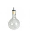 Dash Bottle Round Crackle Glass 33cl 11.5oz