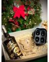 Gift Box - Dead Man's Fingers Spiced Rum, 2 Skull Shot Glasses, 1 Tiki Head Glass, 1 Skull Ice Cube Tray