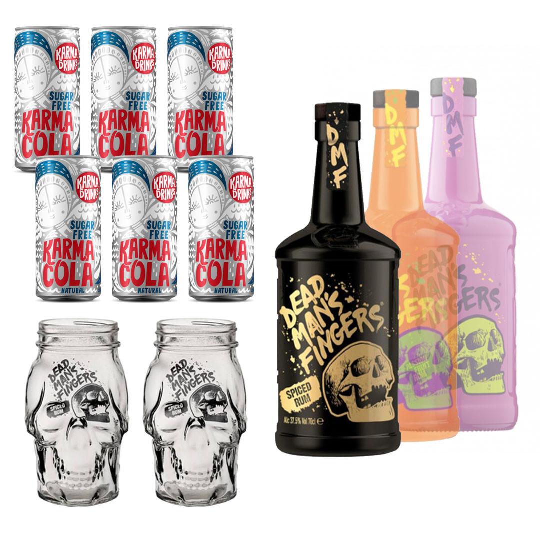 Dead Man's Fingers Rum and Karma Drinks Mixer Bundle