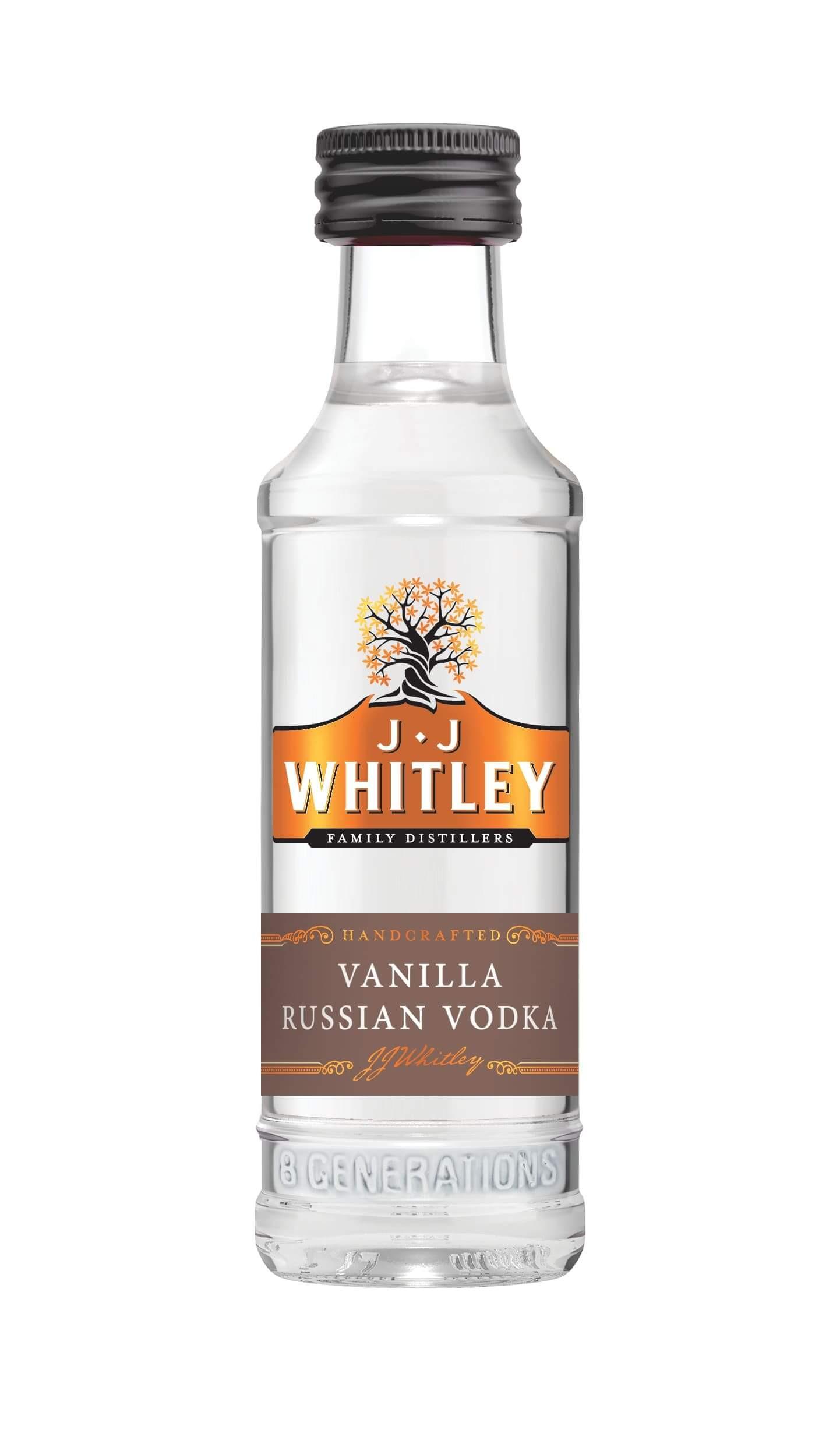 JJ Whitley Vanilla Vodka Miniature 5cl