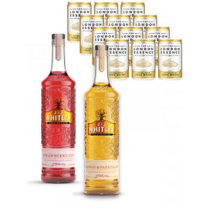 Buy any 2 JJ Whitley 70cl spirits and receive 12 London Essence tonic cans free