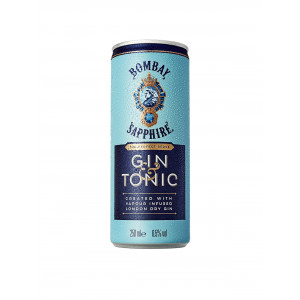 Bombay Sapphire & Tonic cans 12 x 250ml