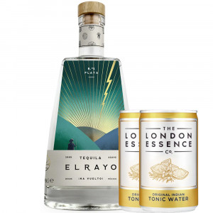 El Rayo Plata Tequila and London Essence Tonic Bundle