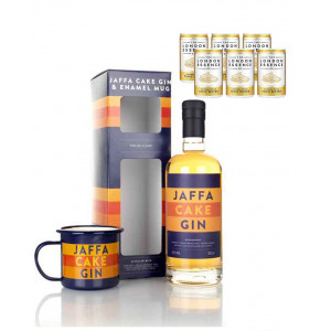 Jaffa Cake Gin and Tonic Enamel Mug Gift Pack bundle