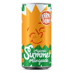 Karma Cola Organic Fairtrade Summer Orangeade Cans 24 x 250ml
