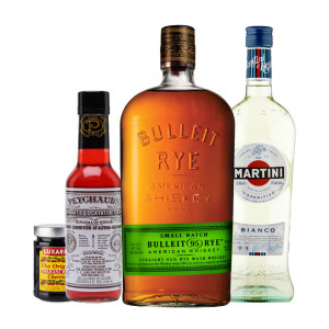 Bulleit Rye 'Manhattan' Bundle incl. Martini Bianco, Peychaud Bitters & Luxardo Cherries