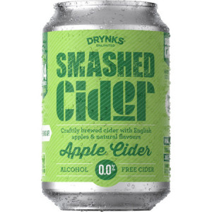 Smashed Cider - Apple - Alcohol Free Cider 24 x 330ml Cans