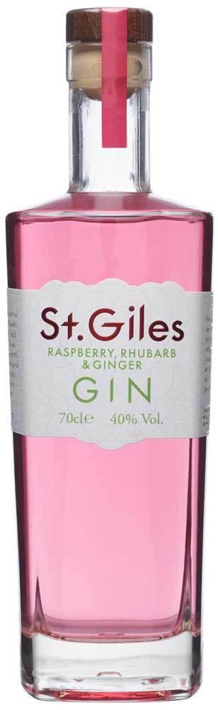 St Giles Raspberry, Rhubarb & Ginger 70cl