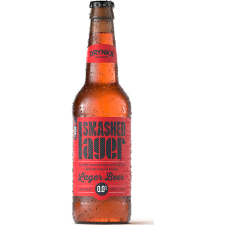 Smashed - Lager Beer - Alcohol Free 12 x 660ml Bottles