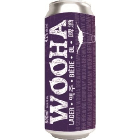 WooHaa Lager Cans 12 x 500ml (100% natural)
