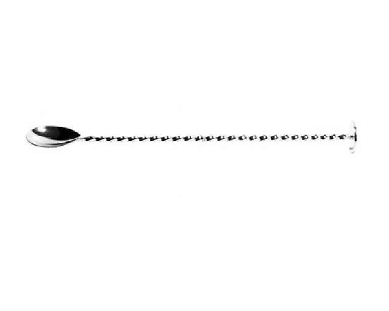 Deluxe Flat End Bar Spoon Twisted (silver plated) 27cm