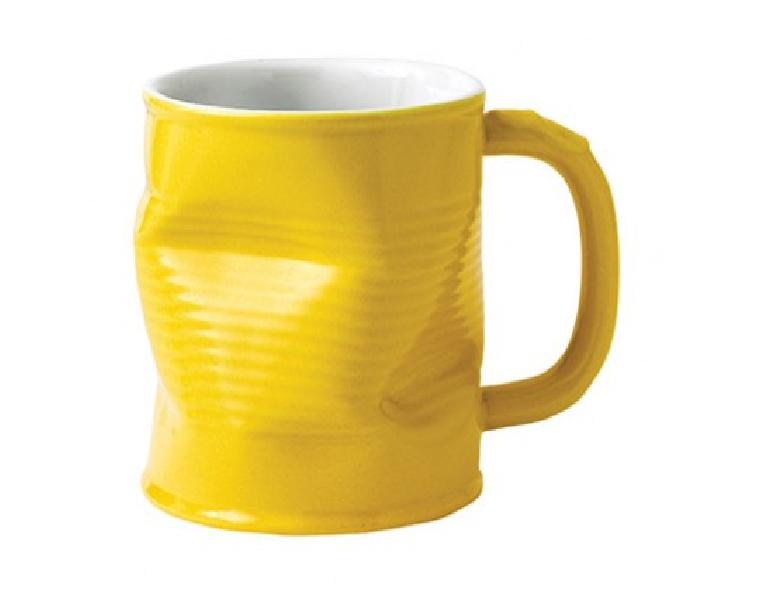 Squashed Tin Can Mug Yellow (large) 32cl 11/25oz