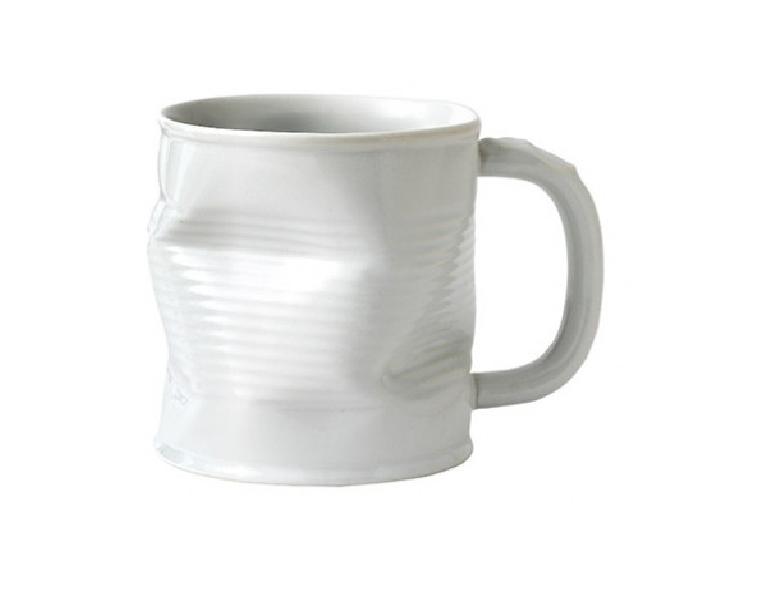 Squashed Tin Can Mug White (large) 32cl 11.25oz
