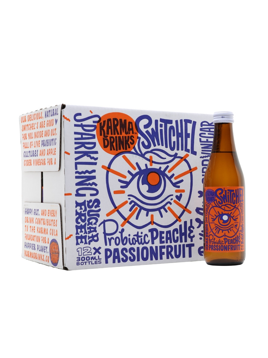 Karma Drinks Peach and Passionfruit Switchel 12x300ml