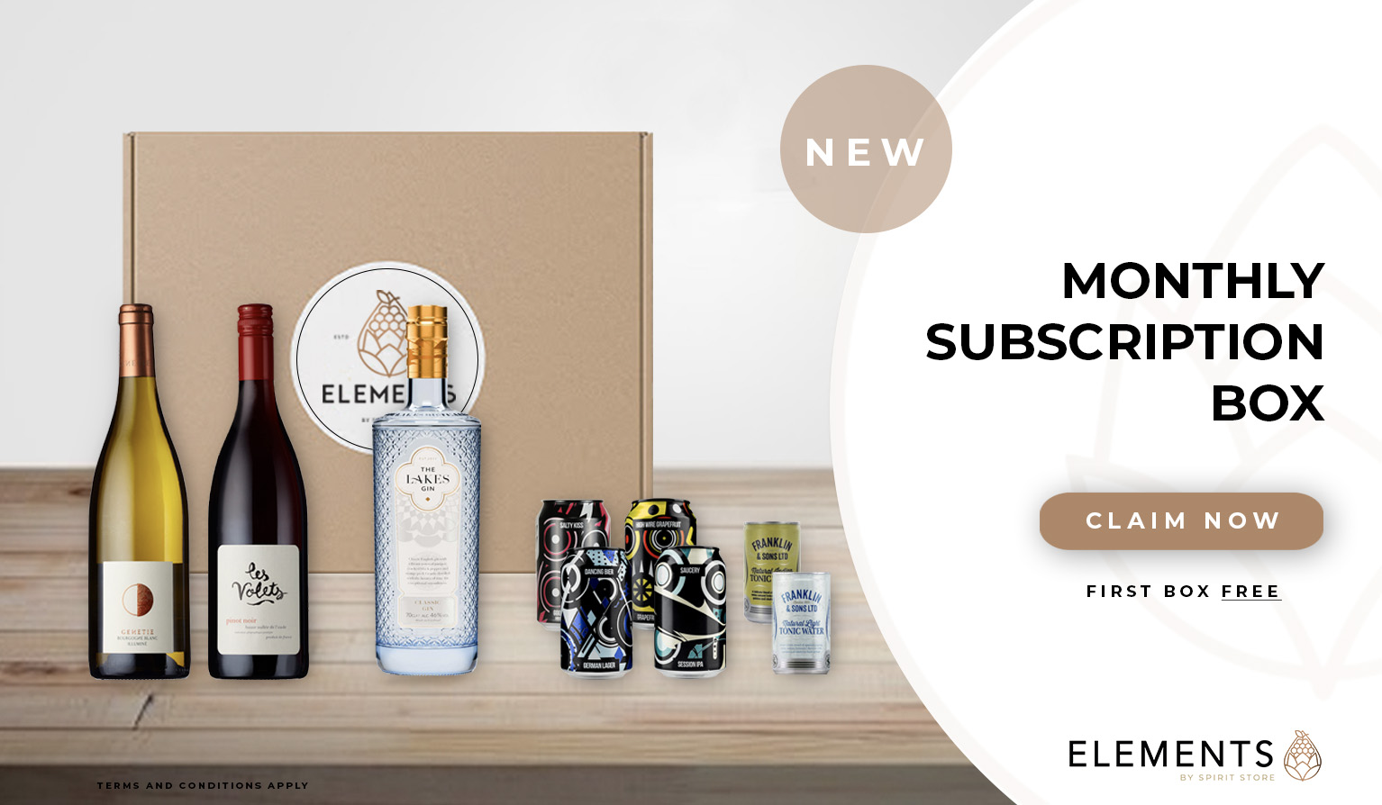 Elements by Spirit Store Monthly Drinks Subscription Service